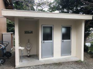 公園内トイレ塗装